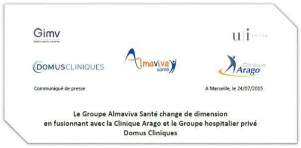 Actualités du groupe Almaviva-Santé